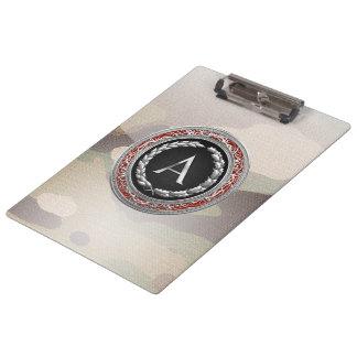"""[110] """"A"""" Silver Vintage Monogram Clipboard"""