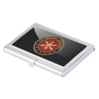 [110] Air Defense Artillery (ADA) Branch Insignia Business Card Case