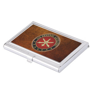 [110] Air Defense Artillery (ADA) Branch Insignia Case For Business Cards