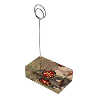 [110] Air Defense Artillery (ADA) Branch Insignia Place Card Holder