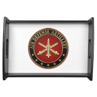 [110] Air Defense Artillery (ADA) Branch Insignia Serving Tray