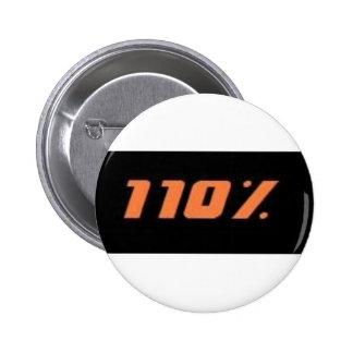 110% black 2 inch round button