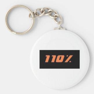 110% black basic round button keychain