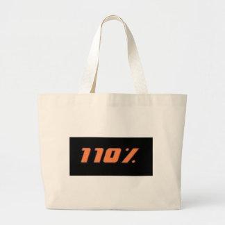110% black jumbo tote bag