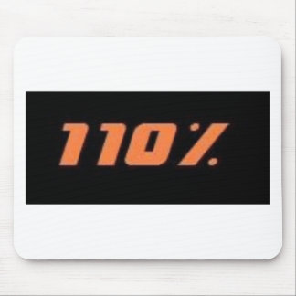 110% black mouse pad