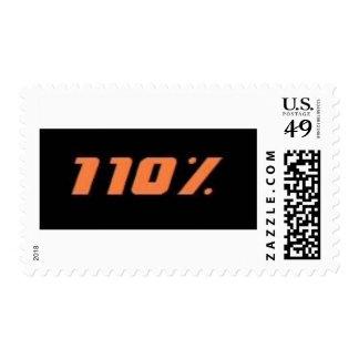 110% black postage stamp