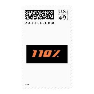 110% black postage stamps