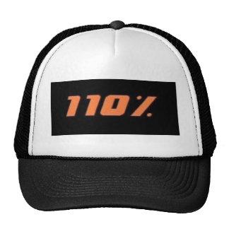 110% black trucker hat