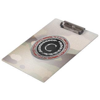 """[110] """"C"""" Silver Vintage Monogram Clipboard"""