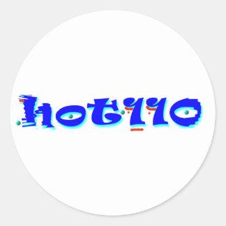 110 calientes pegatina redonda