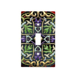 [110] Celtic Cross [Gold with Black Enamel] Light Switch Cover