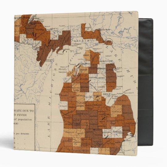 "110 fiebre tifoidea Michigan Carpeta 1 1/2"""