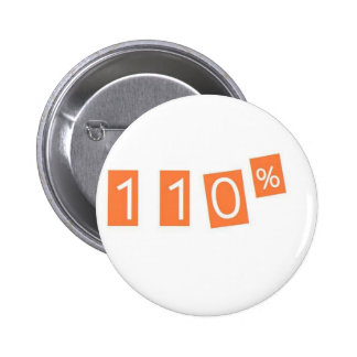 110% funny 2 inch round button