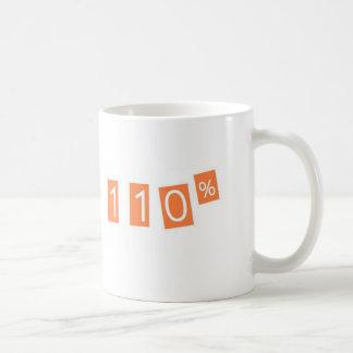 110% funny classic white coffee mug