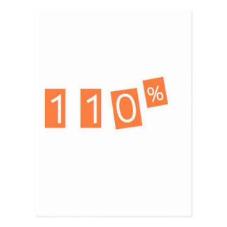 110% funny postcard
