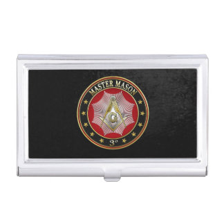 [110] Master Mason - 3rd Degree Square & Compasses Case For Business Cards