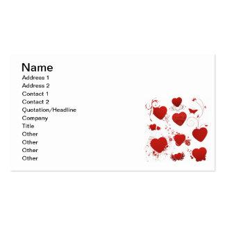 110 red heart shapes swirls wings butterflies business card template