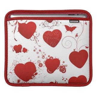110 red heart shapes swirls wings butterflies sleeve for iPads
