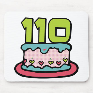 110 Year Old Birthday Cake Mouse Pad