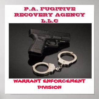 11128659, AGENCIA L.L.C DE P.A. FUGITIVE RECOVERY, PÓSTER