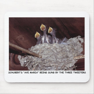 111610-1-AMP   THE THREE TWEETERS MOUSE PAD