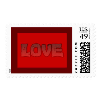 1118492257 HOT RED LAVA CRACKED LOVE GRADIENT TEXT POSTAGE
