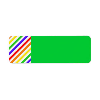 111 COLORFUL RAINBOW STRIPES PATTERN TEMPLATE FUN LABEL