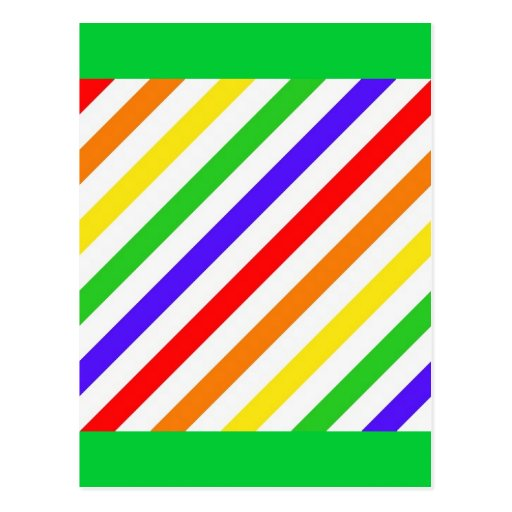 111 COLORFUL RAINBOW STRIPES PATTERN TEMPLATE FUN POST CARDS