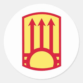 111o Brigada de la artillería de la defensa aérea Pegatina Redonda