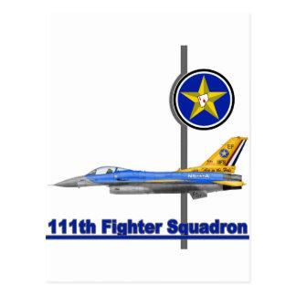 111o Halcón que lucha del F-16 del escuadrón de Tarjetas Postales