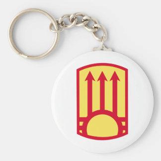111th Air Defense Artillery Brigade Basic Round Button Keychain