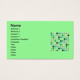 112105 Green disco dots IRISH PATTERN CIRCLES Business Card