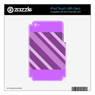 112205-3slant STRIPES PURPLES BACKGROUNDS PATTERNS Decals For iPod Touch 4G
