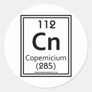 112 Copemicium Classic Round Sticker