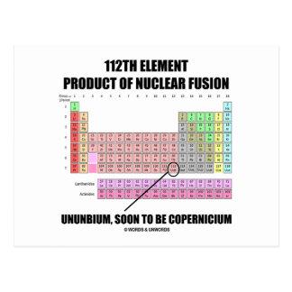 112o Fusión nuclear Copernicium del producto del e Postal