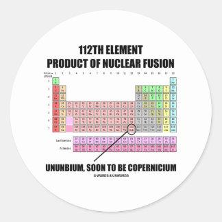 112th Element Product Nuclear Fusion Copernicium Round Sticker