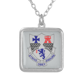 112trh Infantry Regiment - STRIVE - OBEY - ENDURE Silver Plated Necklace