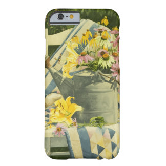 1138 Watering Can on Quilt in Garden Barely There iPhone 6 Case