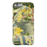 1138 Watering Can on Quilt in Garden iPhone 6 Case