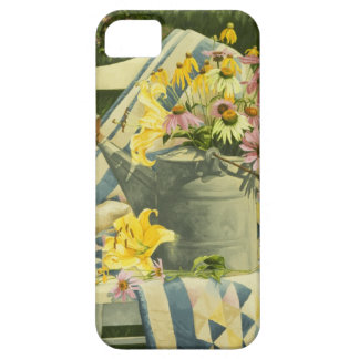 1138 Watering Can on Quilt in Garden iPhone SE/5/5s Case