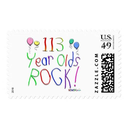 ¡113 años de la roca! timbre postal