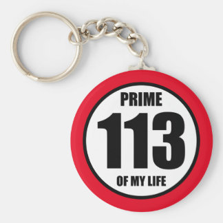 113 - prime of my life keychain