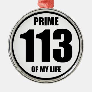 113 - prime of my life metal ornament