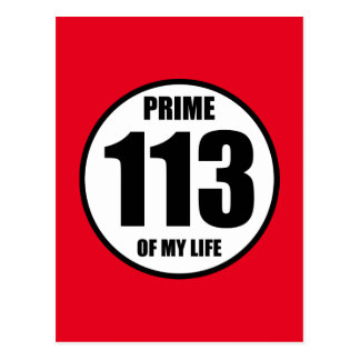 113 - prime of my life postcard