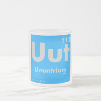 113 Ununtrium   Periodic Table of Elements Frosted Glass Coffee Mug