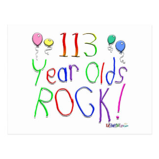 113 Year Olds Rock ! Postcard