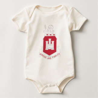 113th Army Engineer Battalion Military Patch Baby Bodysuit