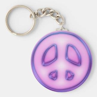 114357-glowing-purple-neon-icon-symbols-shapes-pea keychain