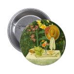 1144 Tea Time in Garden 2 Inch Round Button
