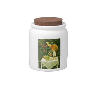 1144 Tea Time in Garden Candy Jar